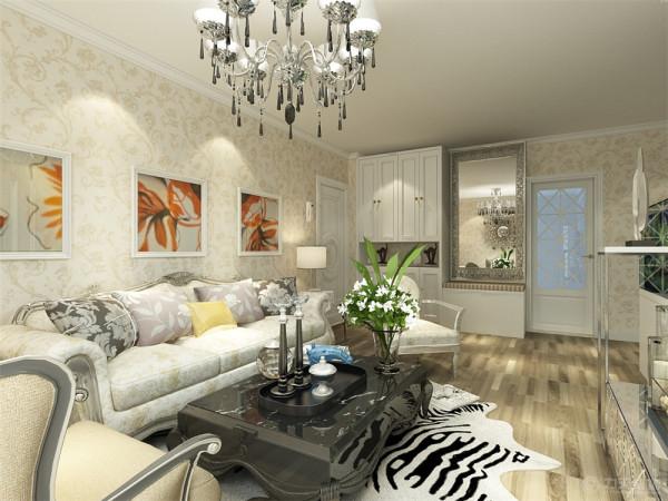 本户型位于中山大厦两室一厅一厨一卫102.6㎡。本次的设计风格是欧式风格。