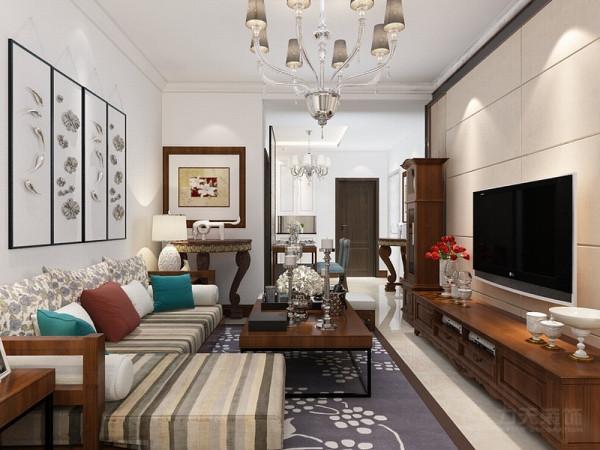 本案为华城领秀两室两厅一厨一卫92㎡的户型。本设计方案为混搭风格。