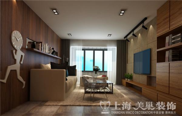 郑州昌建誉峰128平方北欧风格装修案例-客厅侧面效果图