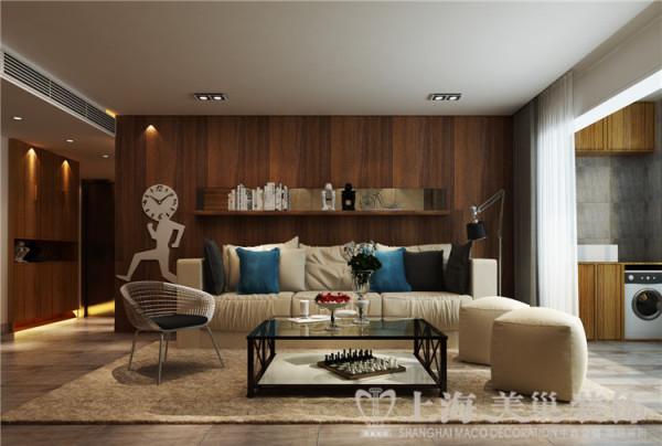 昌建誉峰128平米三室两厅北欧风格装修案例效果图-客厅沙发背景墙