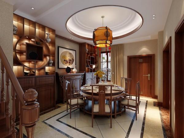 该方案主要以传统的家具,再辅以字画、盆景,陶瓷、古玩、屏风等装饰品,表现出一种修身、齐家的生活境界。