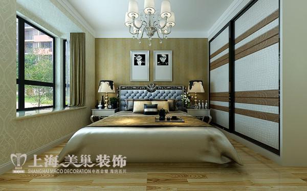 德润黄金海岸139平方3室2厅样板间装修效果图---卧室装修效果图