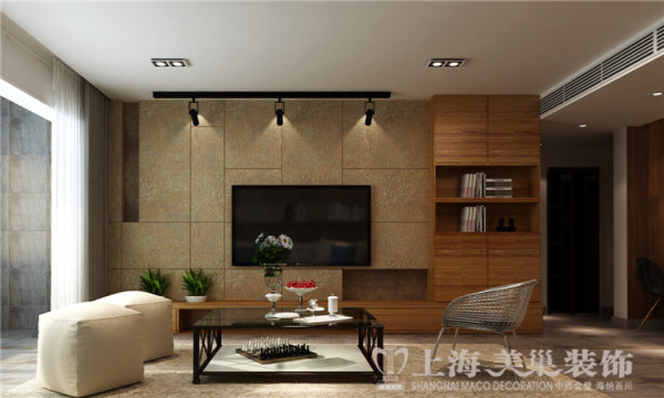 昌建誉峰三室两厅北欧风格装修效果图-客厅电视背景墙
