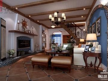 灵动舒适的美式地中海别墅设计