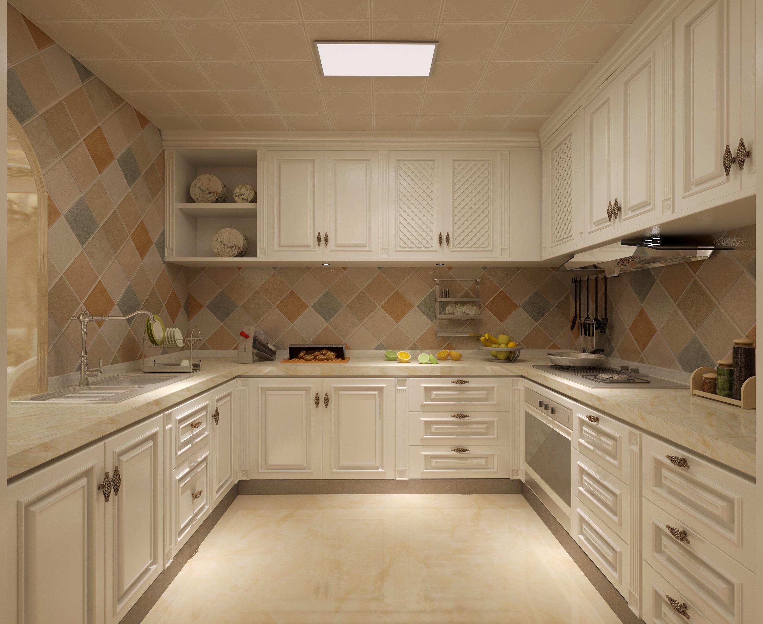 美式风格白领小资厨房装修效果图片_装修美图-新浪家居