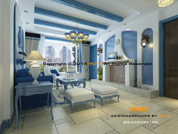 风格:地中海 户型:三室两厅两卫 建筑面积:108.92平米