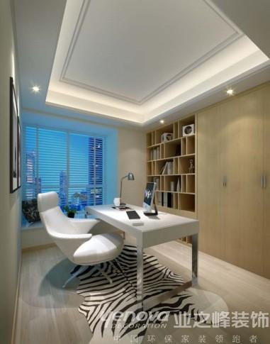 业之峰装饰设计师在设计书房时,主要是时尚现代的家具的运用。