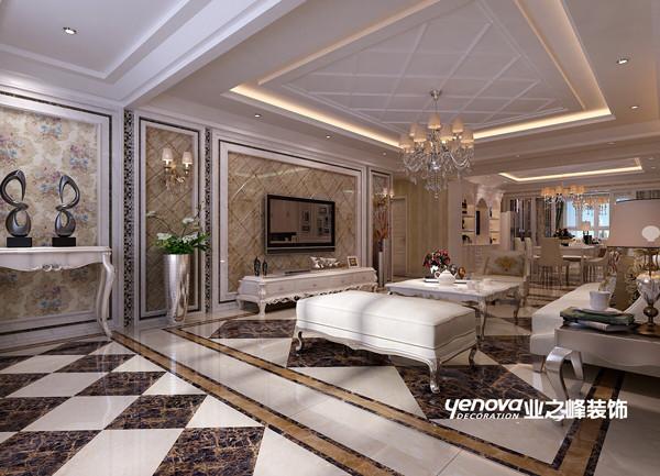 兰州业之峰装饰--客厅效果图
