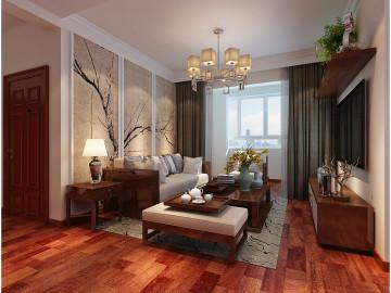 中海国际社区御城中式装修设计