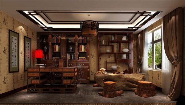 中海格林威治城装修—成都高度国际—书房细节效果图