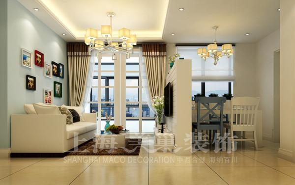 建业二号城邦89平三室两厅现代简约装修效果图---客厅装修效果图