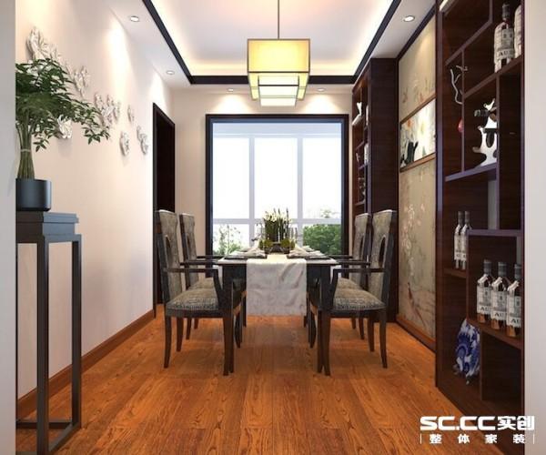 餐厅是一家人或和朋友聚餐的一个重要空间,黑色的餐桌和餐椅,墙纸形成了过度的协和,层次感明显,形成舒缓的意境。