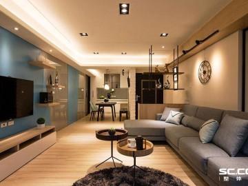 张杨路78平旧房改造简约而不简单
