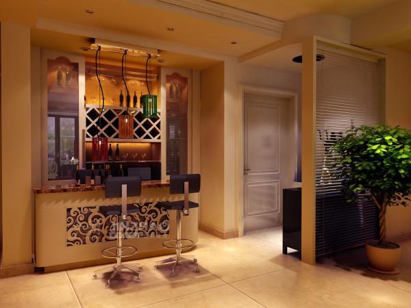 客厅效果图【香江湾-三居室-简欧风格】本案例由今朝装饰提供!