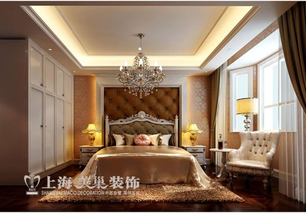 永威五月花城4室2厅样板间装修效果图---主卧简欧风格装修效果图