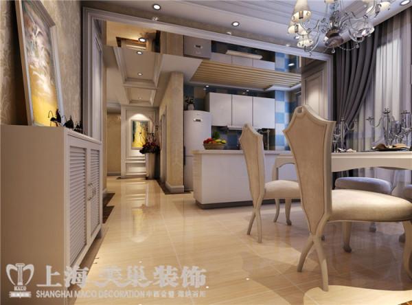 贰号城邦110平3室2厅法式风格装修样板间-餐厅效果图