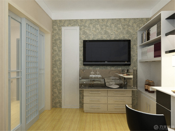 这是一套骊山里83㎡2室1厅1厨1卫的户型。此次设计方案定义为现代简约风格。