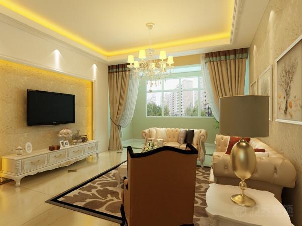 本方案是塘沽南益名士华庭,2室2厅1卫1厨,其面积为85平米。设计风格为简欧风格。