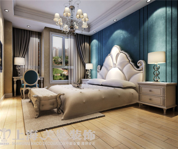 贰号城邦110平3室2厅法式风格装修效果图-卧室效果图