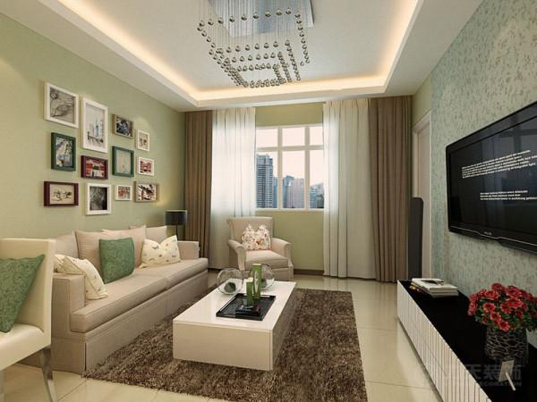 本方案是松江城户型2室1厅1卫1厨,其面积为68平米。设计风格为现代简约。