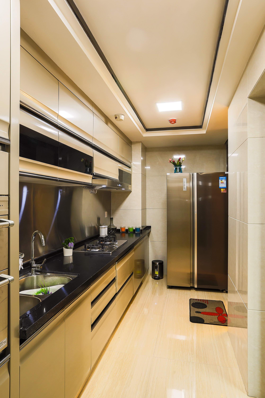 石凌松现代中式空灵简朴唯美舒适三居禅意厨房图片