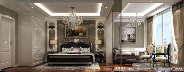 雍湖湾卧室细节效果图----成都高度国际装饰设计