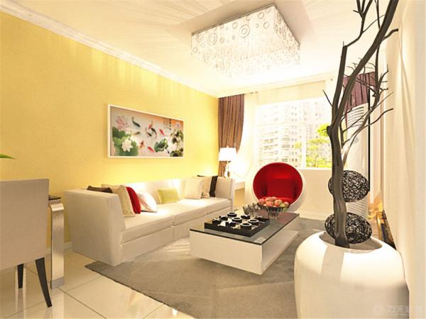 客厅没有吊顶,仅圈一圈石膏角线,凸显现代简约的感觉。个性的吸顶灯美丽大方。给人一种即使没有吊顶也不遗憾的感觉。沙发背景墙是客户绣的十字绣。现代简约的沙配以色彩丰富的抱枕很是靓丽。