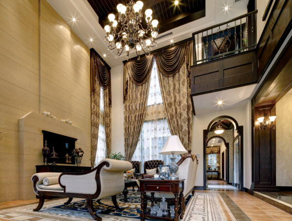 臻园美式风格客厅