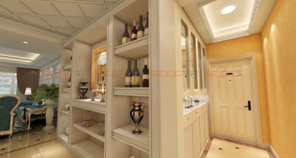 玄关加酒柜的处理非常完美
