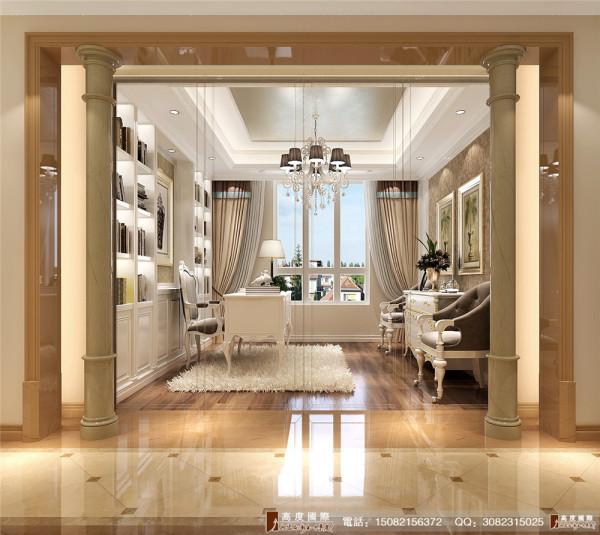 中粮祥云书房细节效果图----高度国际装饰设计