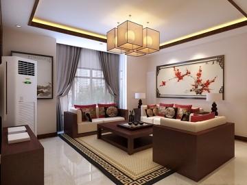 祥鹰花园138平三居室装修设计