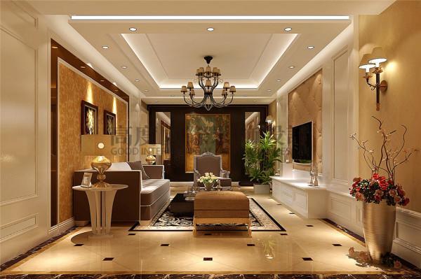 滨江丽景装修—高度国际—客厅细节效果图