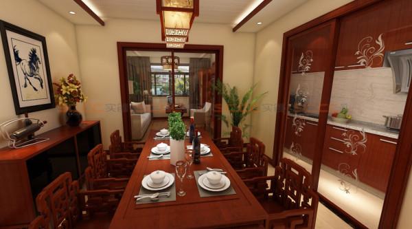 餐厅,旁边厨房的推拉门花纹相当漂亮哦^