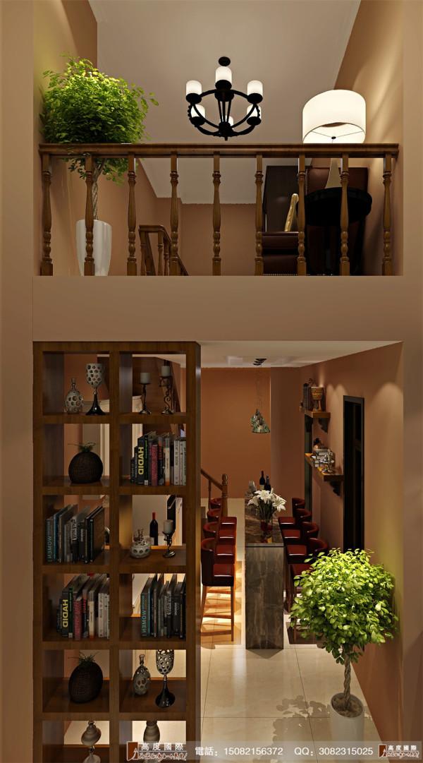 天府世家楼梯细节效果图---高度国际装饰设计