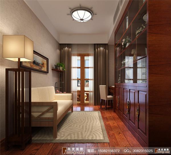天府世家舒书房细节效果图---高度国际装饰设计