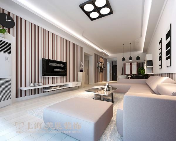雅居乐国际花园95平方三室两厅客厅装修效果图---流畅的线条及别具一格的色彩搭配,犹如蝴蝶般翩翩起舞,成为空间的主体。