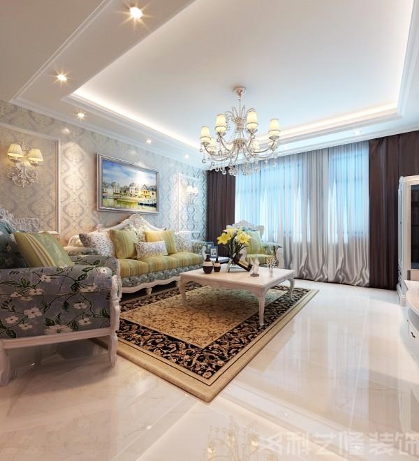 柔和、温馨的色彩搭配,营造出高雅、内敛、精致、恬静的陈设氛围。而局部融入的现代设计元素,调和出浅色系的奢华,散发出淡雅清新的现代简欧味道,打造一个高雅时尚、舒适温馨的婚房。