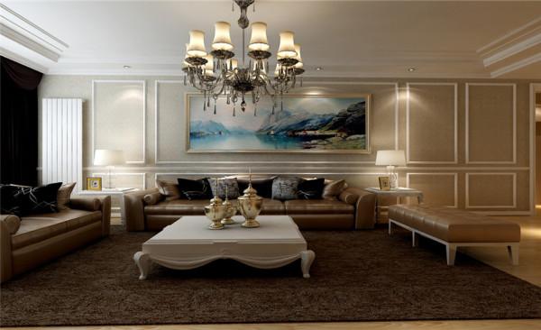 客厅设计: 沙发背景墙精致的 古典欧式挂画