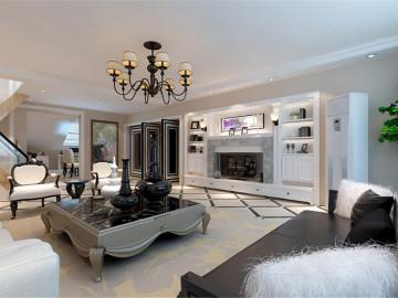新怡家园200平简欧风格案例