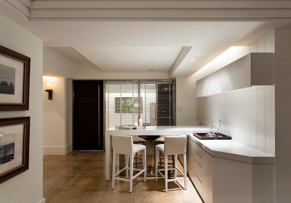 简约 V7西园 厨房图片来自紫禁尚品设计师李擎在V7西园现代简约设计案例的分享