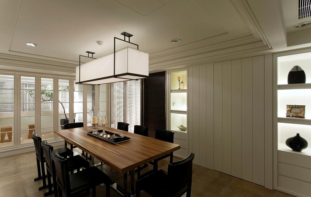 简约 V7西园 餐厅图片来自紫禁尚品设计师李擎在V7西园现代简约设计案例的分享