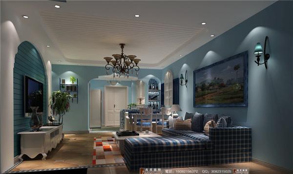 中环岛客厅细节效果图----高度国际装饰设计