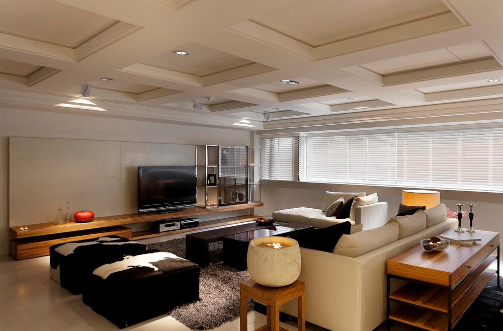 简约 V7西园 客厅图片来自紫禁尚品设计师李擎在V7西园现代简约设计案例的分享