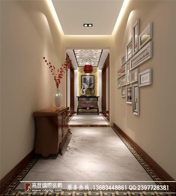 典雅魅力 高度国际新中式淡雅3居 门厅