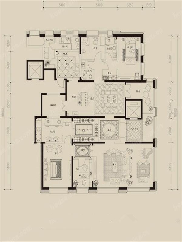 简约 V7西园 户型图图片来自紫禁尚品设计师李擎在V7西园现代简约设计案例的分享