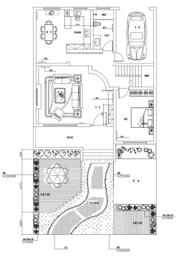联盟新城330平方五室三厅三卫——户型平面方案布局图