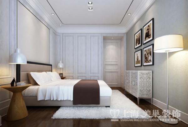 中豪汇景湾简欧装修120平三室两厅效果图样板间——卧室布局效果图