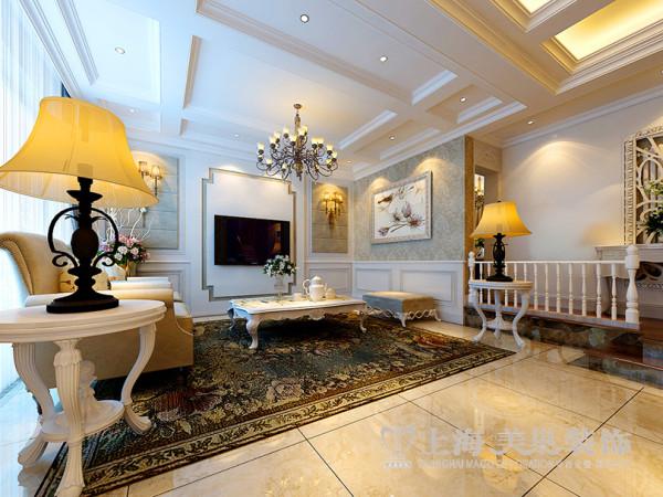 郑州联盟新城五室三厅三卫简欧风格装修——电视背景墙