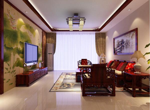 客厅的整体设计效果展示,客厅整体元素的把控是一套装修风格的重点之笔,中式的家居环境讲究古典美和风水上的布局。