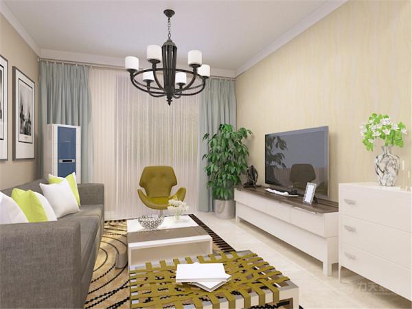 考虑到户型面积以及业主的性格喜好因此定义为现代风格。客餐厅整体墙面为暖灰色的乳胶漆墙面,家具的颜色整体以白色为主,在餐厅部分的墙面放了一面照片墙,餐桌为白色烤漆,座椅为深灰色的布艺和白色烤漆相结合。